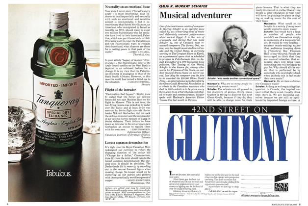 Article Preview: Musical adventurer, July 1987 | Maclean's