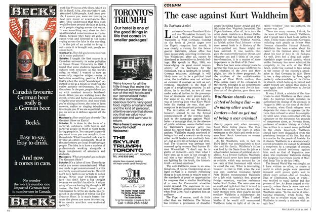 Article Preview: The case against Kurt Waldheim, July 1987 | Maclean's