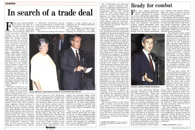 Article Preview: In search of a trade deal, July 1987 | Maclean's