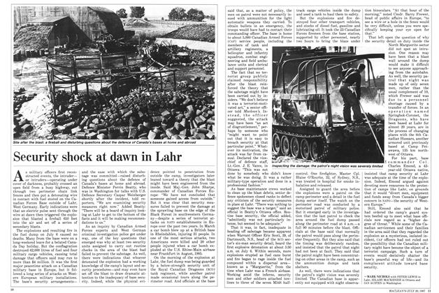Article Preview: Security shock at dawn in Lahr, July 1987 | Maclean's