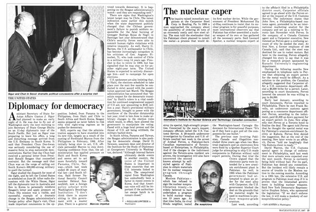 Article Preview: The nuclear caper, July 1987 | Maclean's