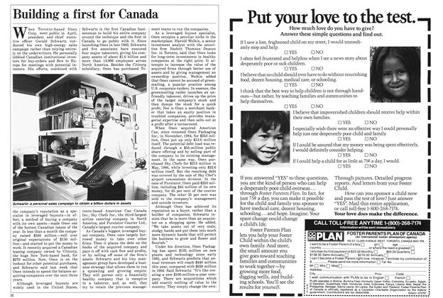 Article Preview: Building a first for Canada, July 1987 | Maclean's