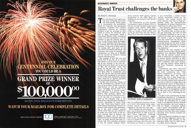 Article Preview: Royal Trust challenges the banks, July 1987 | Maclean's