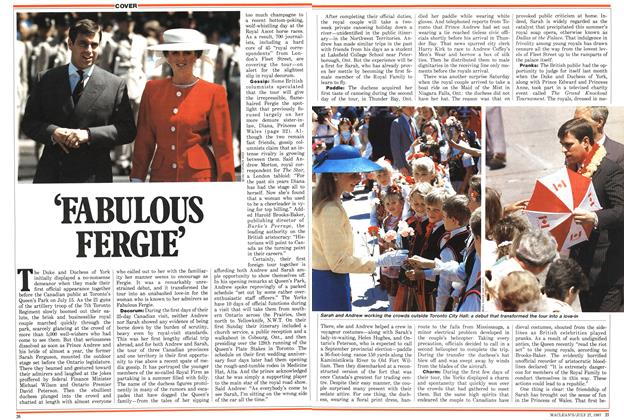 Article Preview: 'FABULOUS FERGIE', July 1987 | Maclean's