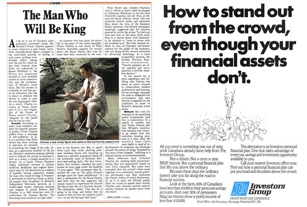 Article Preview: The Man Who Will Be King, July 1987 | Maclean's