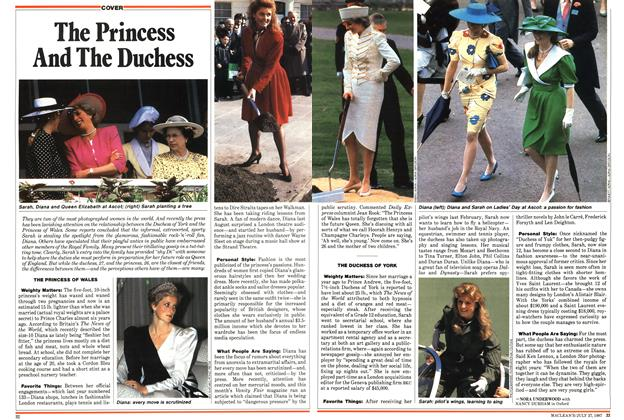 Article Preview: The Princess And The Duchess, July 1987 | Maclean's