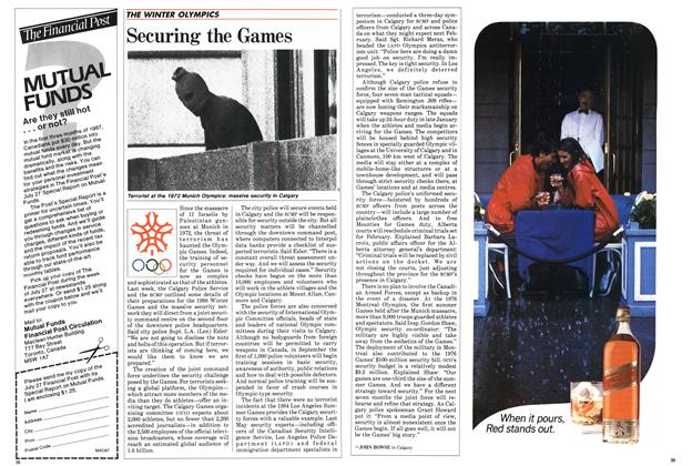Article Preview: Securing the Games, July 1987 | Maclean's