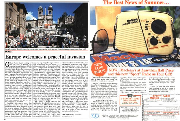 Article Preview: Europe welcomes a peaceful invasion, July 1987   Maclean's