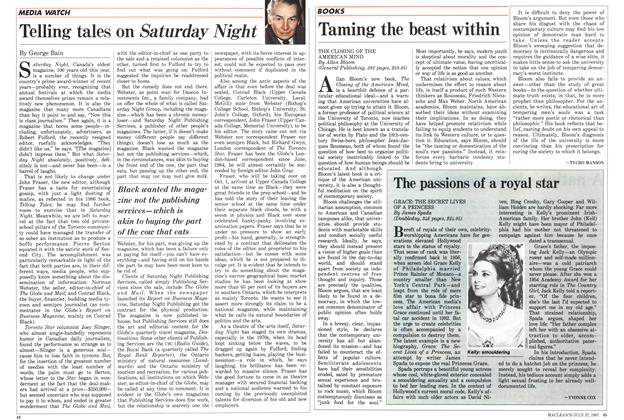 Article Preview: Telling tales on Saturday Night, July 1987 | Maclean's
