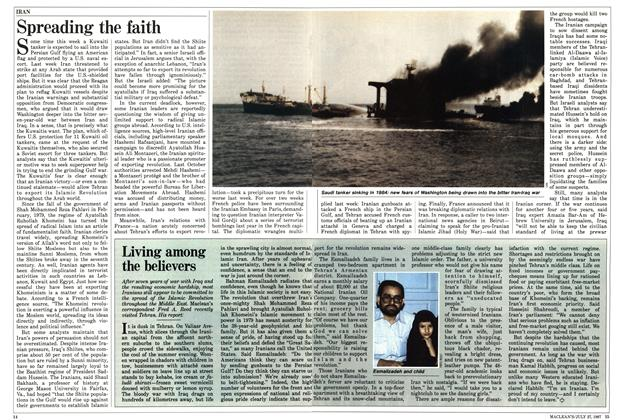 Article Preview: Spreading the faith, July 1987 | Maclean's