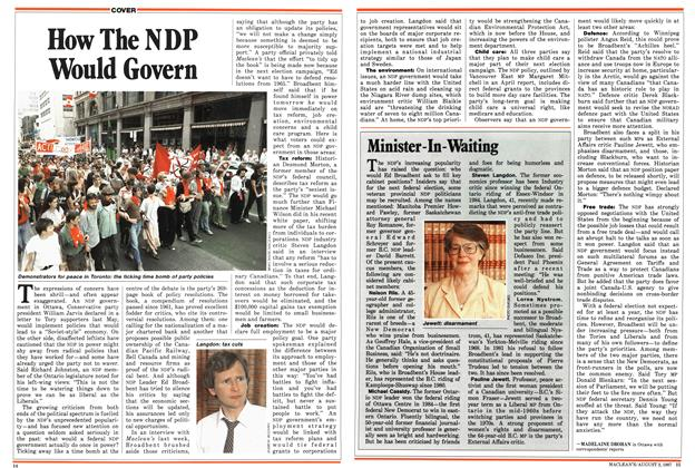 Article Preview: How The NDP Would Govern, August 1987 | Maclean's