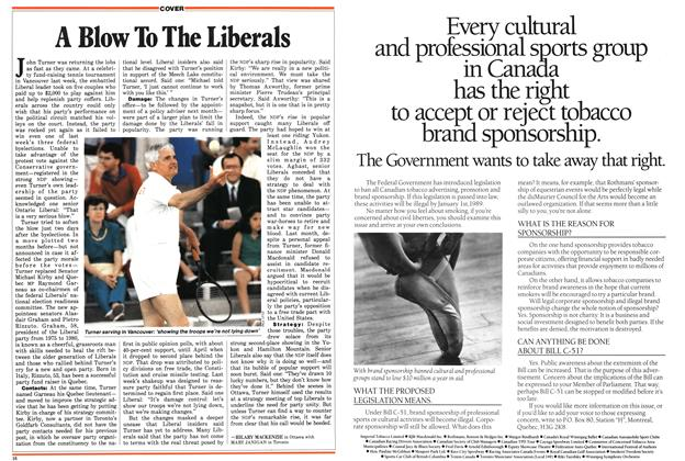 Article Preview: A Blow To The Liberals, August 1987 | Maclean's