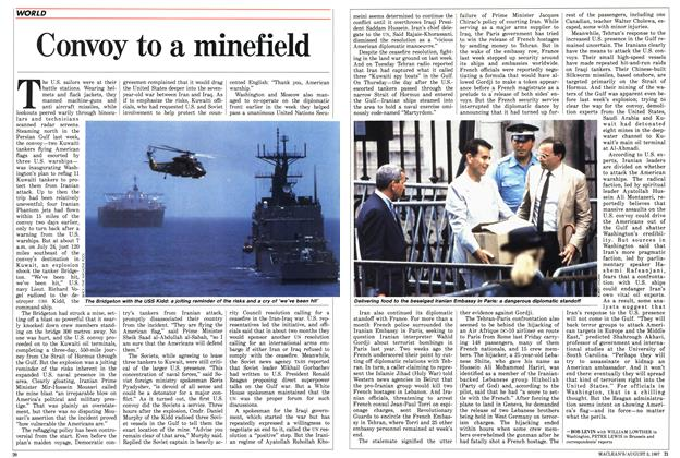 Article Preview: Convoy to a minefield, August 1987 | Maclean's