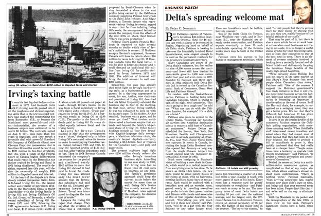Article Preview: Delta's spreading welcome mat, August 1987 | Maclean's