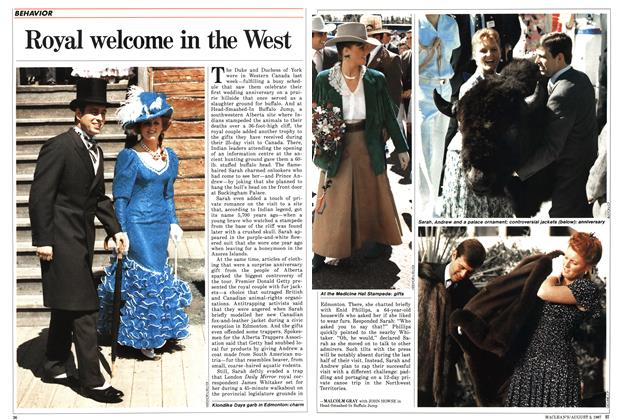 Article Preview: Royal welcome in the West, August 1987 | Maclean's