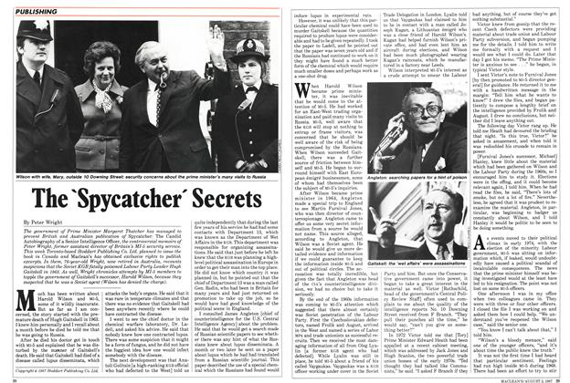 Article Preview: The 'Spycatcher' Secrets, August 1987 | Maclean's