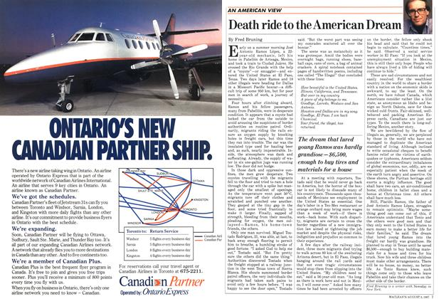 Article Preview: Death ride to the American Dream, August 1987   Maclean's