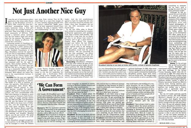Article Preview: Not Just Another Nice Guy, August 1987 | Maclean's