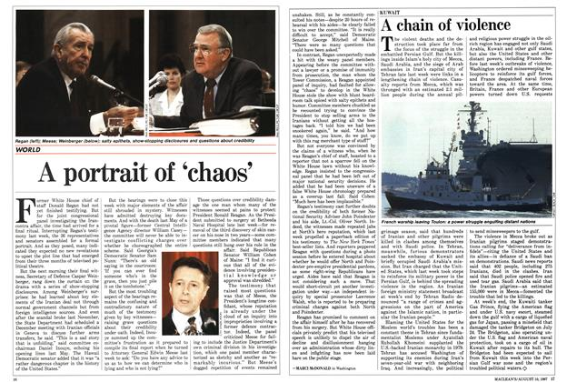 Article Preview: A portrait of 'chaos', August 1987 | Maclean's