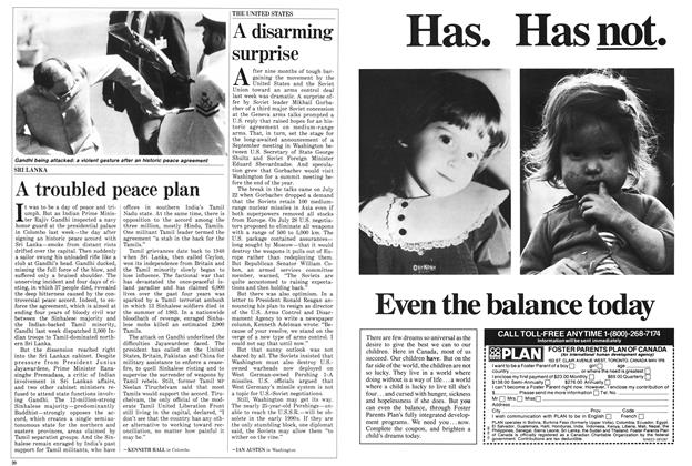 Article Preview: A disarming surprise, August 1987 | Maclean's