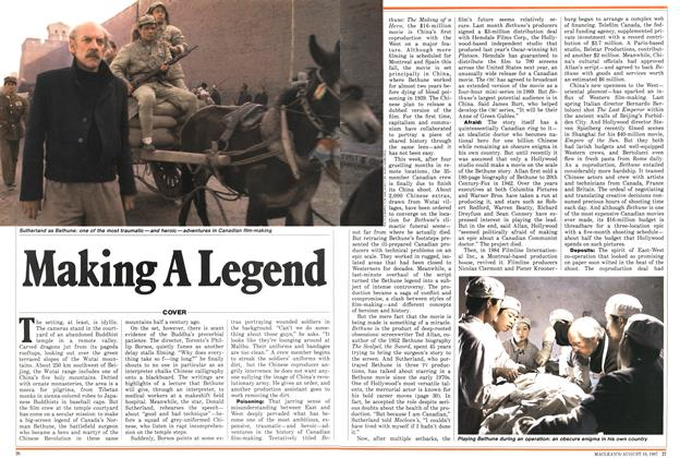 Article Preview: Making A Legend, August 1987 | Maclean's