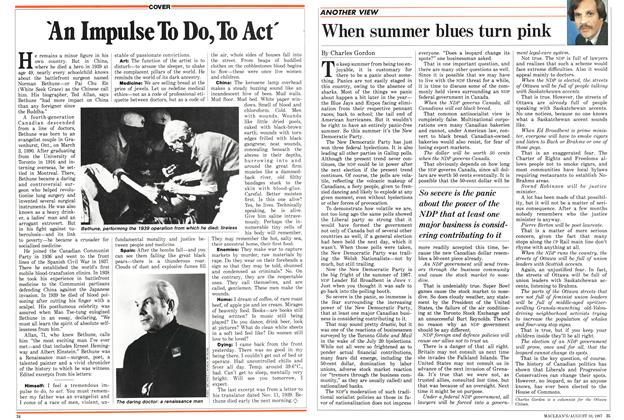 Article Preview: When summer blues turn pink, August 1987 | Maclean's