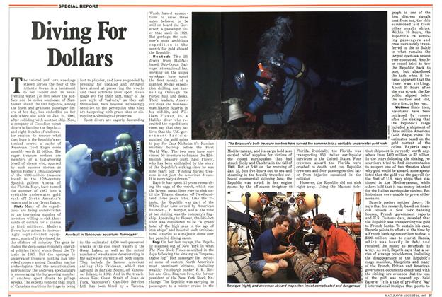 Article Preview: Diving For Dollars, August 1987 | Maclean's
