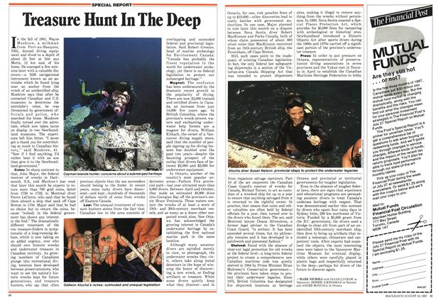 Article Preview: Treasure Hunt In The Deep, August 1987 | Maclean's