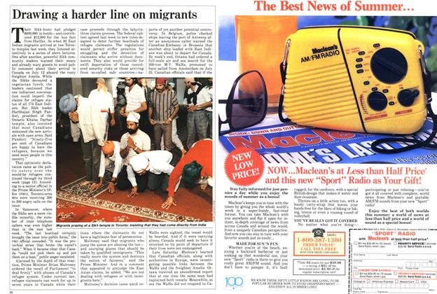 Article Preview: Drawing a harder line on migrants, August 1987 | Maclean's