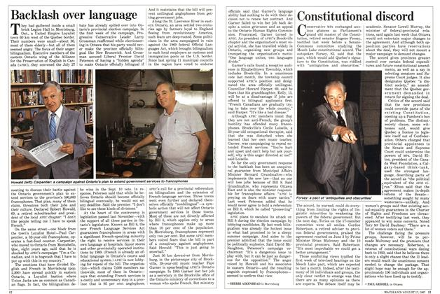 Article Preview: Constitutional discord, August 1987 | Maclean's