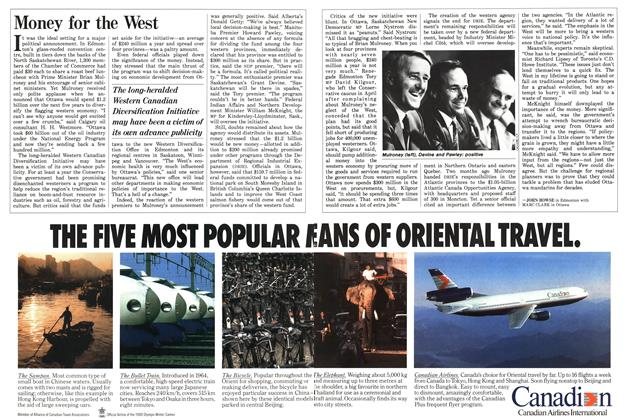 Article Preview: Money for the West, August 1987 | Maclean's