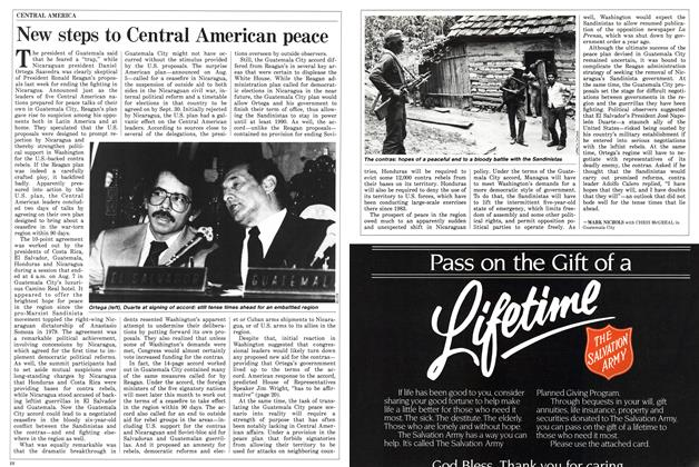 Article Preview: New steps to Central American peace, August 1987 | Maclean's