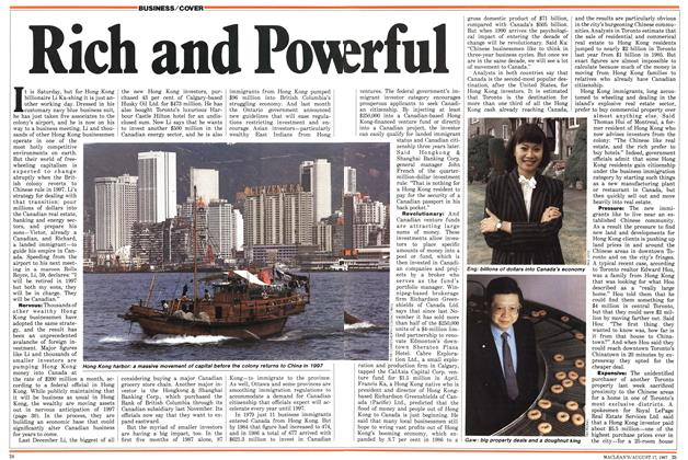 Article Preview: Rich and Powerful, August 1987 | Maclean's
