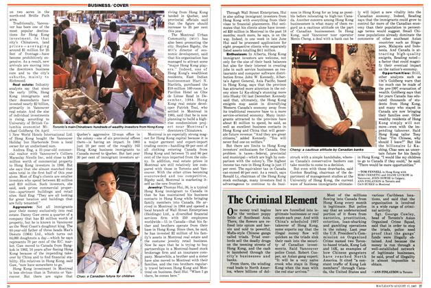 Article Preview: The Criminal Element, August 1987 | Maclean's
