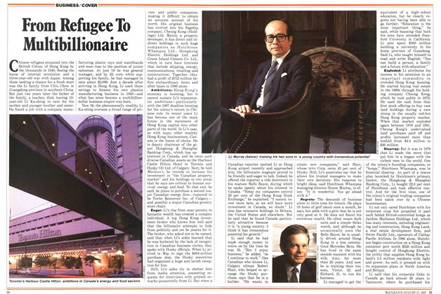 Article Preview: From Refugee To Multibillionaire, August 1987 | Maclean's