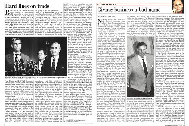 Article Preview: Giving business a bad name, August 1987 | Maclean's