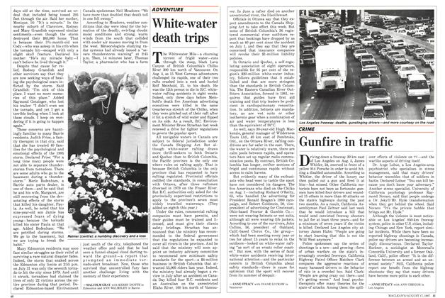 Article Preview: Gunfire in traffic, August 1987 | Maclean's