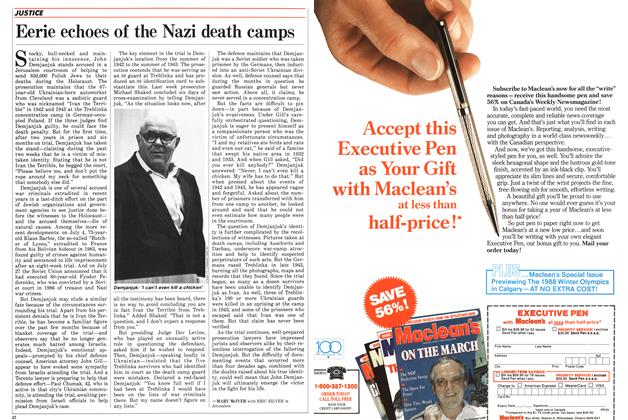 Article Preview: Eerie echoes of the Nazi death camps, August 1987 | Maclean's