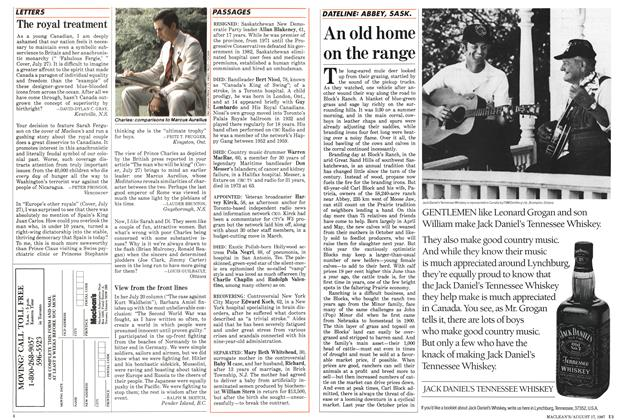 Article Preview: The royal treatment, August 1987 | Maclean's