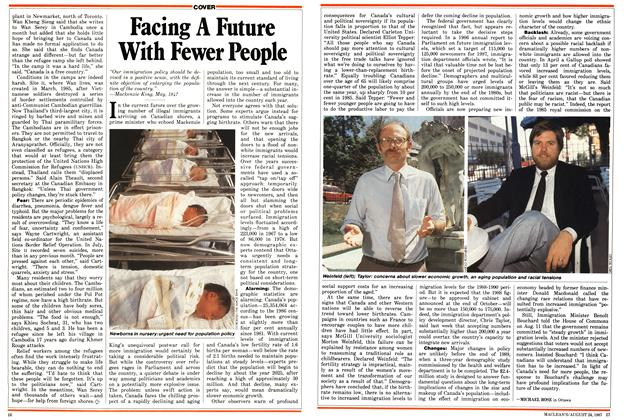 Article Preview: Facing A Future With Fewer People, August 1987 | Maclean's