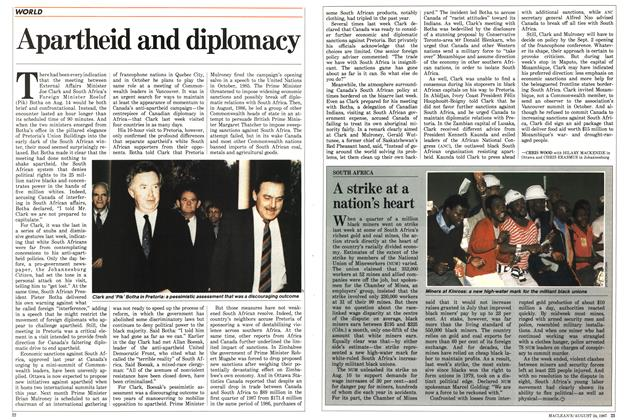 Article Preview: Apartheid and diplomacy, August 1987 | Maclean's