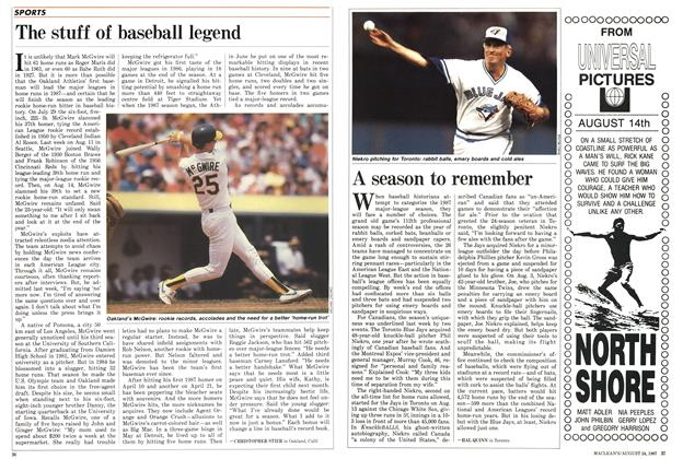 Article Preview: A season to remember, August 1987 | Maclean's