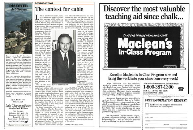 Article Preview: The contest for cable, August 1987 | Maclean's
