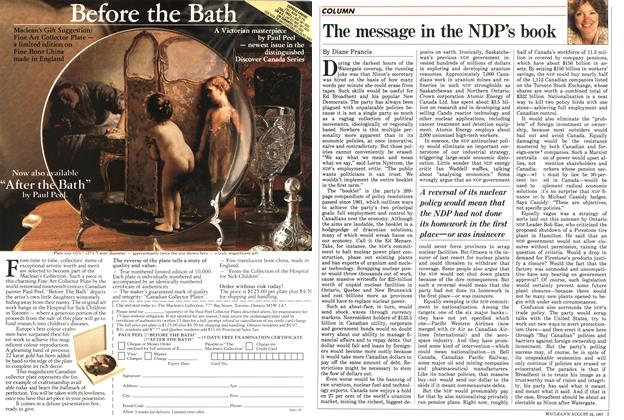 Article Preview: The message in the NDP's book, August 1987 | Maclean's