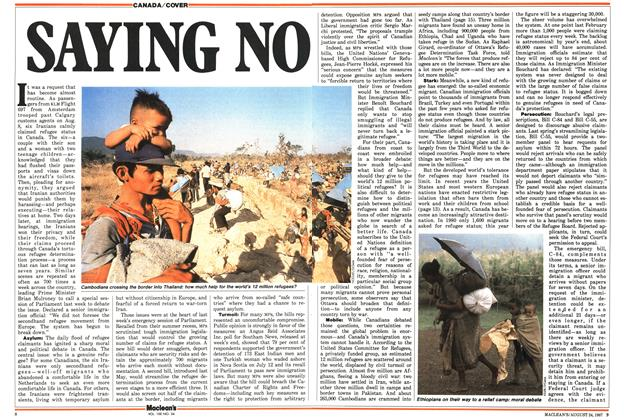 Article Preview: SAYING NO, August 1987 | Maclean's