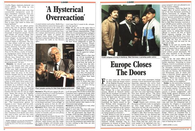 Article Preview: Europe Closes The Doors, August 1987 | Maclean's