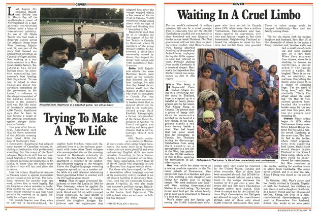 Article Preview: Waiting In A Cruel Limbo, August 1987 | Maclean's