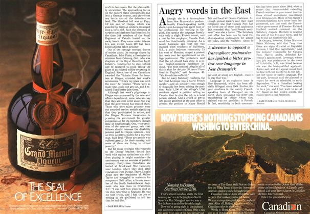 Article Preview: Angry words in the East, August 1987 | Maclean's