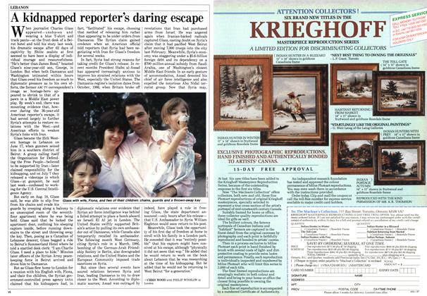 Article Preview: A kidnapped reporter's daring escape, August 1987 | Maclean's