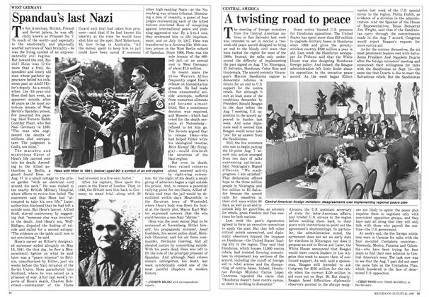 Article Preview: A twisting road to peace, August 1987 | Maclean's